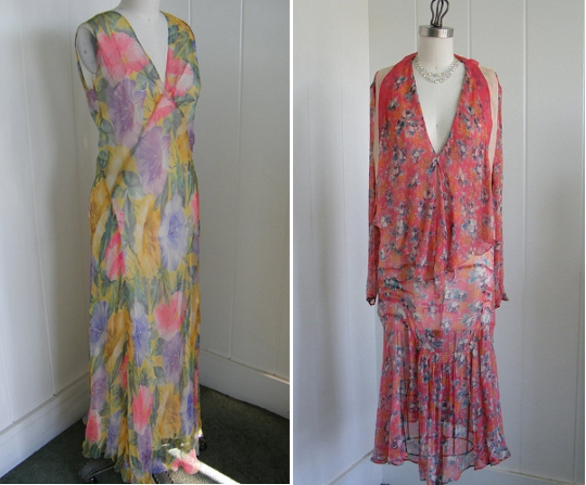 1920s tea dresses from etsy