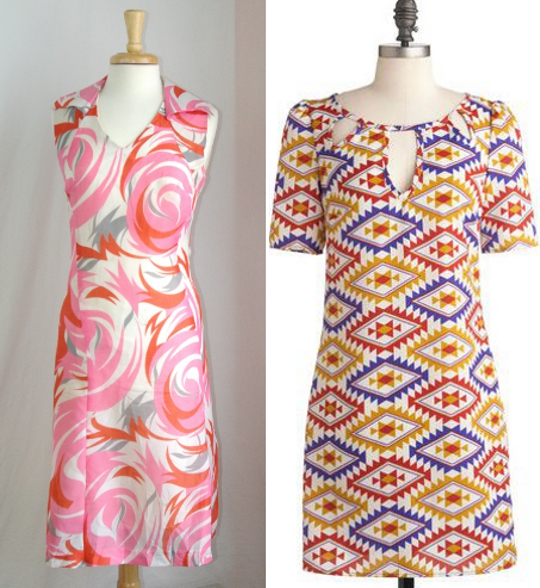 abstract printed dresses