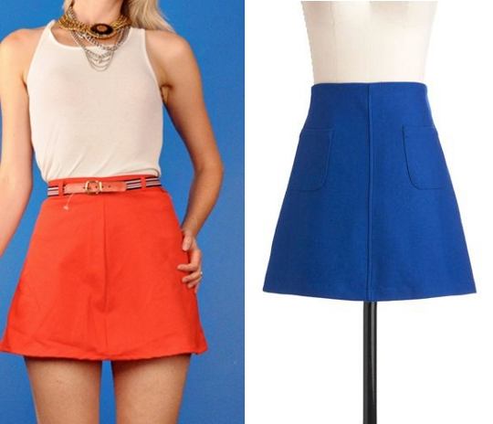 mod fashion mini skirt