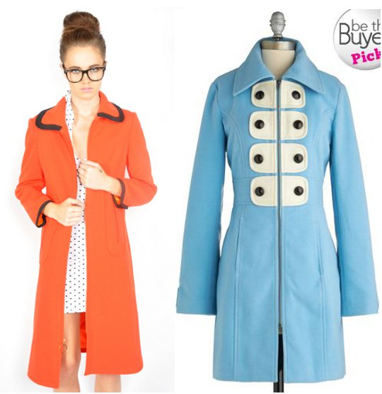 1960s mod fashion swing coats
