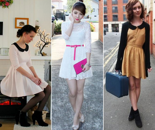 peter pan collars worn by bloggers