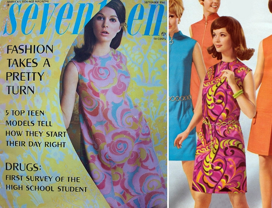 60s mod fashion abstract dresses