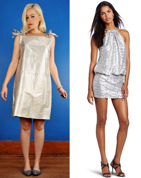 60s mod fashion futuristic silver dresses