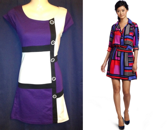 60s mod fashion mondrian dress