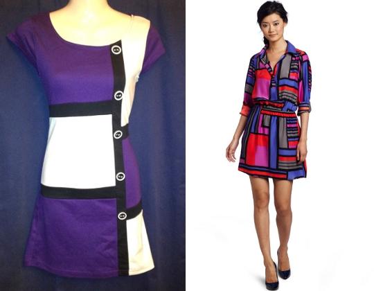 60s mod fashion mondrian dress