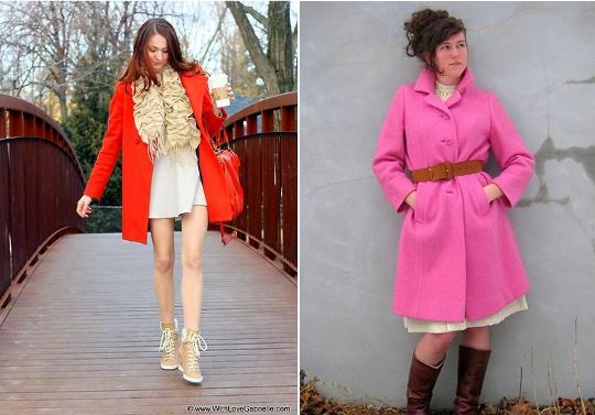 60s mod fashion swing coat