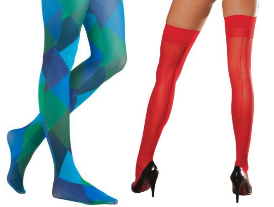 1960s mod fashion tights