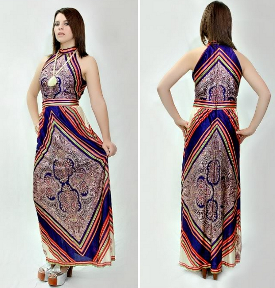 70s empire waist dress
