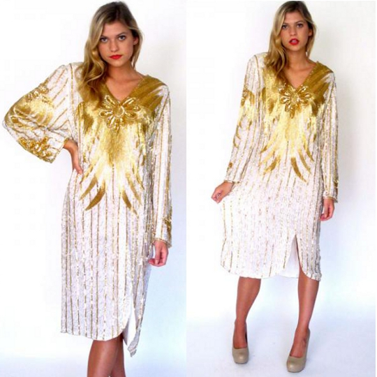 70s dress sequin tunic