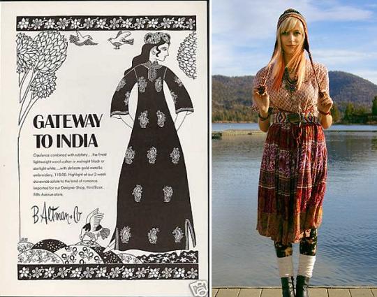 eastern print '70s dresses