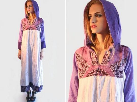 70s hooded dress