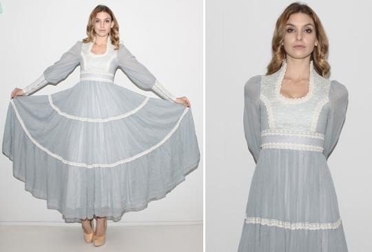 70s Prairie Style Dress