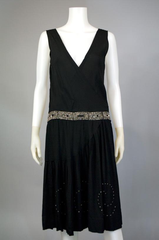 1920s vintage drop waist dress