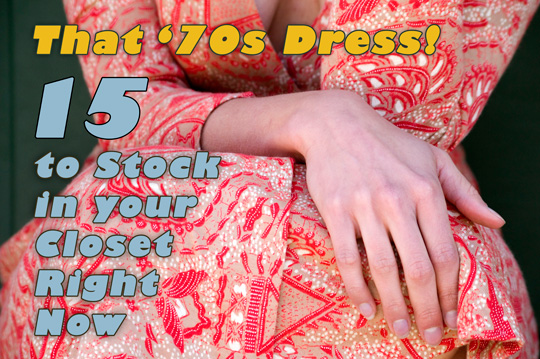 70s dresses in 15 different vintage styles