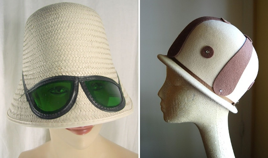 60s mod fashion helmet hats