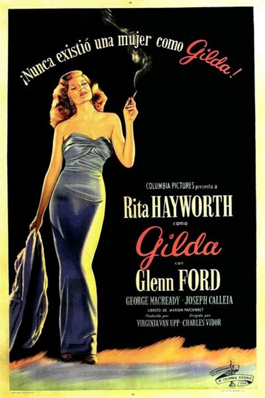 1930s advertisement for gilda with rita hayworth