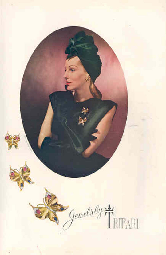 1930s fashion advertisement for costume jewelry