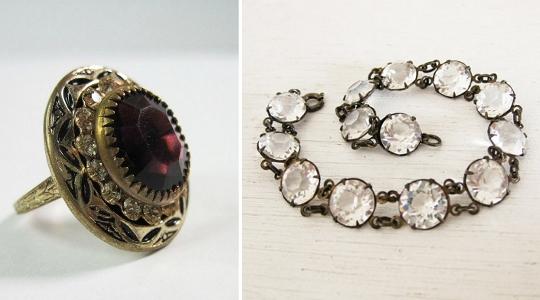 1930s fashion costume jewelry