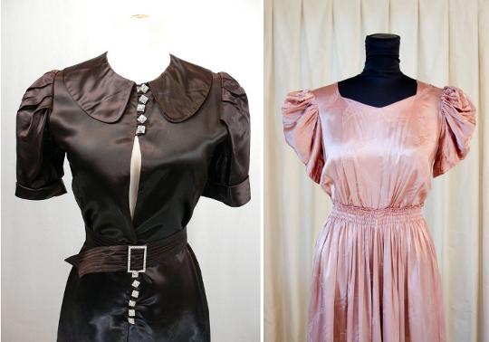 1930s fashion puff sleeves
