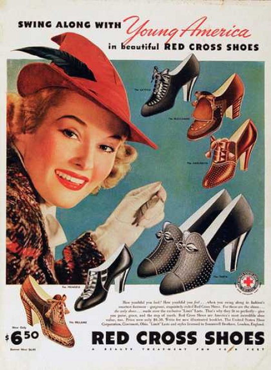 1930s fashion advertisement for shoes