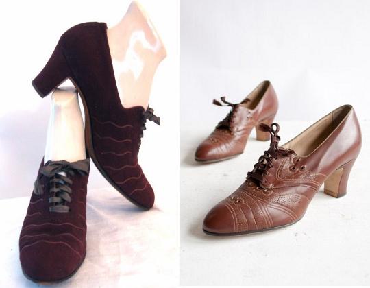 1930s fashion shoes