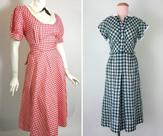 40s clothes gingham print