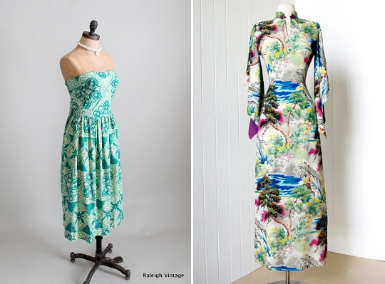 40s clothes hawiaan dresses