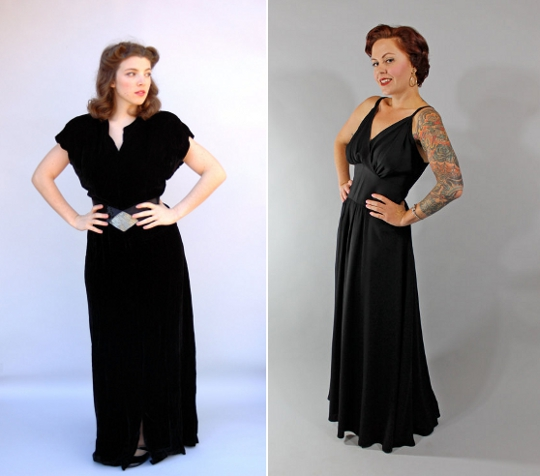 40s clothes hollywood glam black dresses