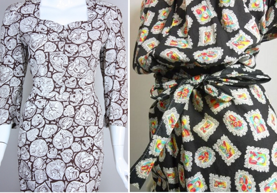 40s clothes novelty print