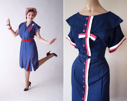 40s clothes patriotic prints