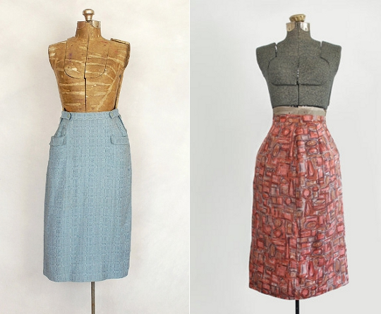 40s clothes pencil skirts