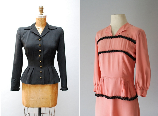 40s clothes peplums