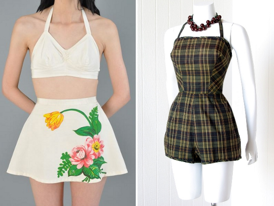 40s clothes sportswear playsuits