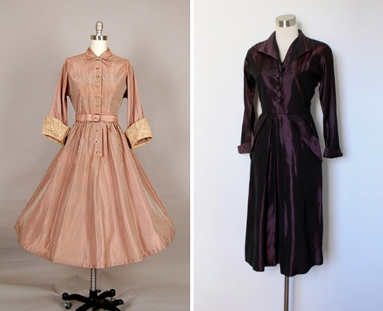 taffetta '40s dresses