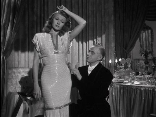rita hayworth wearing sequins in the 1940s