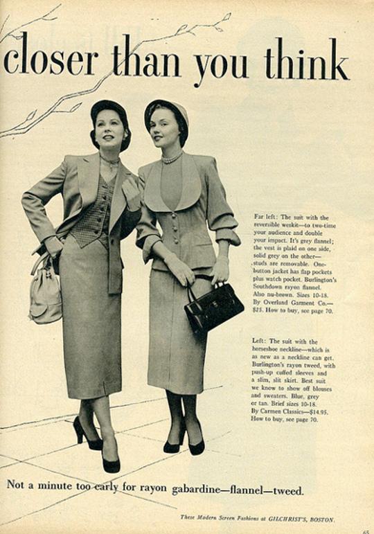 40s vintage ad for gabardine