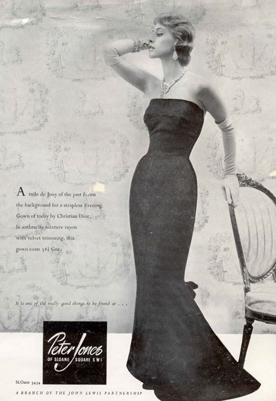 40s vintage clothing ad glam dress