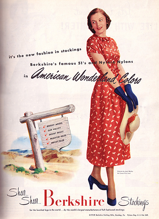 40s vintage clothing ad novelty print