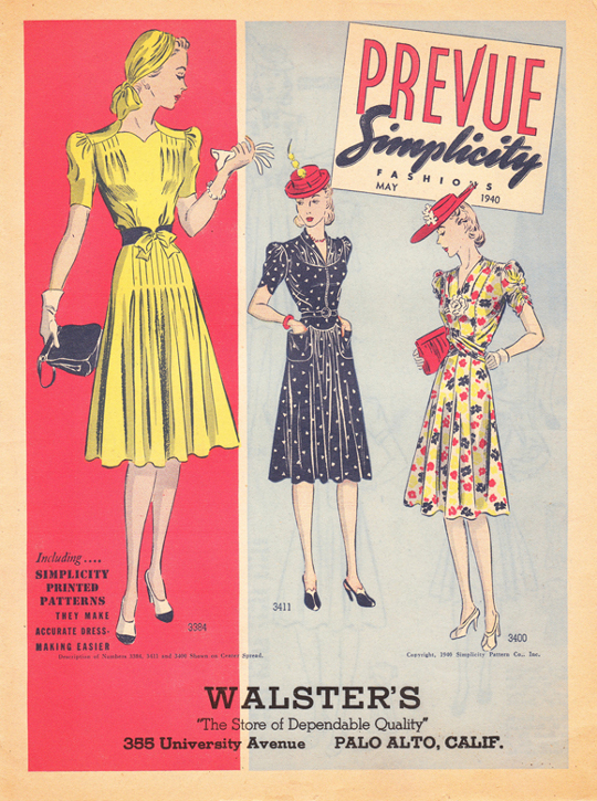 40s vintage clothing ad rayon dresses
