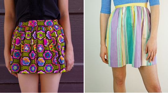 vintage miniskirts available to buy on etsy