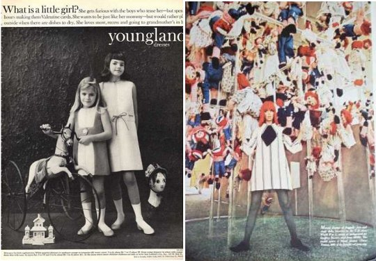 the mini skirt was viewed as a trend for children embraced by youth