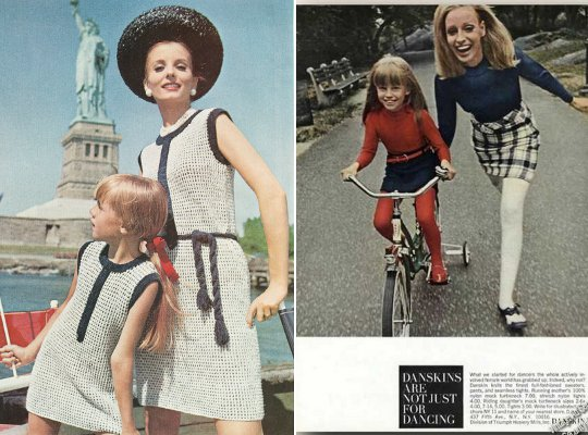 how mother and daughters dressed similar in the 1960s and dressed similar in the late 1960s