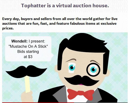 tophatter mustaches