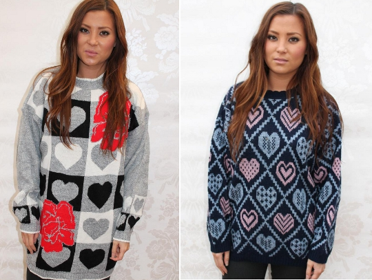 vintage heart knit sweaters from asos marketplace
