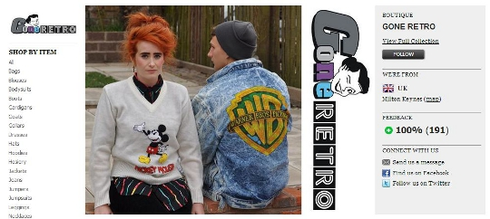 gone retro online vintage store on asos marketplace