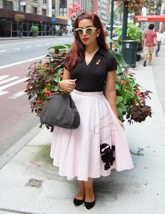 1950s vintage poodle skirt