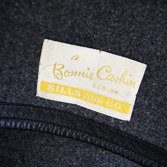 label for a bonnie cashin vintage garment