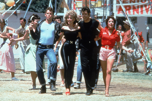 1950s grease movie final scene