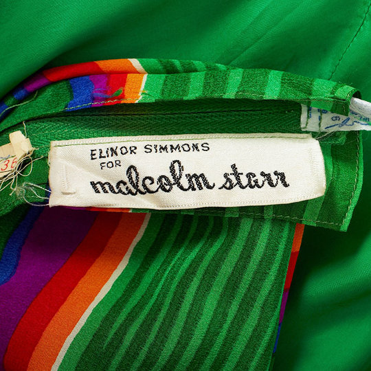 label from a malcolm starr vintage garment