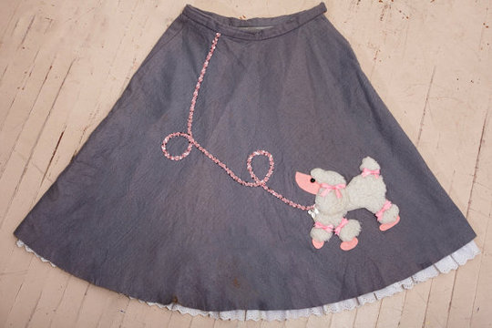 poodle skirt 1950s fashion